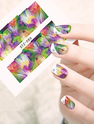 10pcs/set New Beauty Sweet Nail Art Sticker Beautiful Flower Water Transfer Decals Nail Art DIY Polish Beauty STZ-086