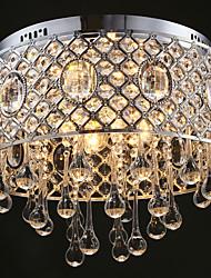 4 Light-Cylinder Shape  Raindrops Crystal Ceiling Lamp Lights