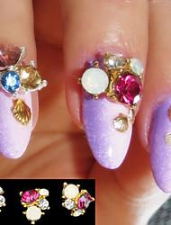 5pcs  Strass Stud 3D Nagelstickers UV Gel Charms Nagel Studs Nail Art Dekoration