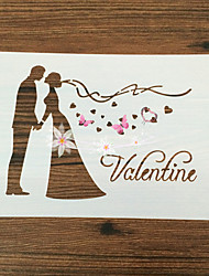 Romantic Valentine's Day Wedding Printing Tools Environmental Protection Baking Cake Icing Sugar Sieve Injection Mould