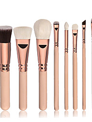 8pcs Contour Brush Makeup Brush Set Blush Brush Eyeshadow Brush Brow Brush Concealer Brush Foundation Brush Synthetic HairProfessional