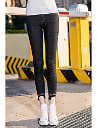 Outer mold black jeans feet pants female trousers Slim thin pencil pants flash