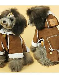 Собака Плащи Одежда для собак Очаровательный На каждый день Сплошной цвет Желтый Коричневый
