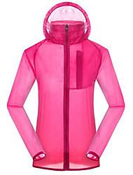 Mulheres Blusas Acampar e Caminhar Caça De Excursionismo Respirável Térmico/Quente Primavera Verão OutonoAmarelo Branco Vermelho Verde
