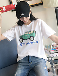 Really making 2017 new Korean cotton short-sleeved t-shirt women