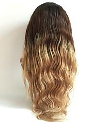 T1b / 27/04 corpo dianteira do laço ondulado perucas de cabelo humano para as mulheres 8-26inch brasileiro virgem frente do laço do cabelo