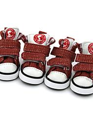 Собаки Ботинки и сапоги Зима Лето Весна/осень Мода Спорт Цветовые блоки Черный Коричневый Красный Синий