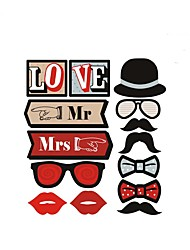 14 piece/set Funny Photo Booth Props Bride Groom Sparkling Wedding Decoration Bridal Shower Event Party Supplies