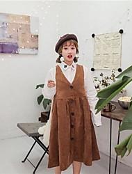 17 no início da primavera nova veludo colete vestido de colete de tiro real