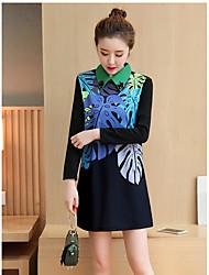 assinar nova XL 2017 mulheres mm de gordura longa seção do novo vestido de saia base de impressão