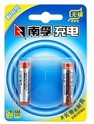 Nanfu aaa nickel hydrure métallique batterie rechargeable 1.2v 900mah 2 pack