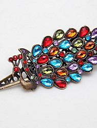 1Pc Girls Women'S Crystal Rhinestone Peacock Hair Barrette Vintage Clip Hairpin Hair Accessories