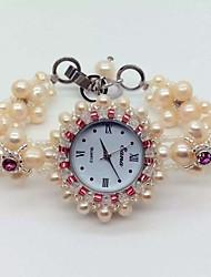 Damen Armband-Uhr Quartz Band Rosa Rosa