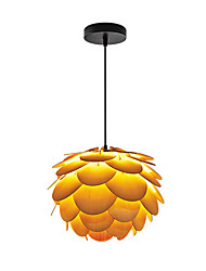 E14/E27 A-01Y Modern LightsLayered Wood Artichoke Ceiling Pendant Light Pendant Lampshade