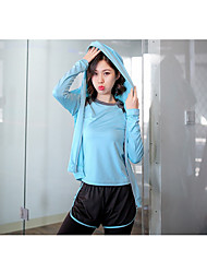 Damen Laufshirt Laufhosen Rasche Trocknung Atmungsaktiv Kleidungs-Sets für Yoga Übung & Fitness Lose Schwarz Grau Gelb RosaL XL XXL XXXL