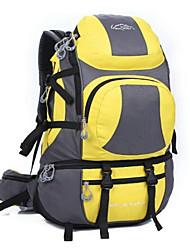 45 L Backpack Rucksack Camping & Hiking Waterproof Yellow Red Light Green Dark Blue Light Blue Orange