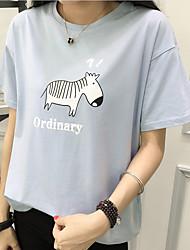 Signe t-shirt à manches courtes chemise femme été 2017 nouvelle vague de ms. Loose chemise à col rond sauvage compatissante