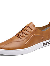 Men's Sneakers shoes Spring Fall Winter Comfort Patent Leather Outdoor Office & Career Casual Flat Heel Black Grey Yellow