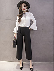 Sign 2017 new waist was thin seven straight jeans loose retro wide leg pants female pantyhose