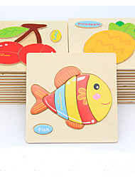 Jigsaw Puzzles DIY KIT Educational Toy Wooden Puzzles Building Blocks DIY Toys Fish 1 Leisure Hobby