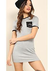 AliExpress ebay2017 summer new short-sleeved dress shirt spell color spot