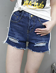 Zeichen 2017 Sommer neue koreanische Version der kleinen Grat Loch hohe Taille Shorts, Frauen Mastix
