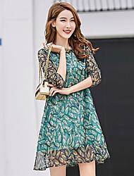 Robe en mousseline imprimée imprimée en mousseline de soie 2017 nouvelle robe en ligne