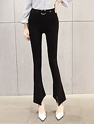 Sign Korean version of wide leg pants flared trousers Ms. Black was thin tight Slim fashion waist long pants tide