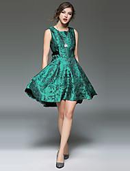 assinar ponto novas mulheres&# 39; s nova jacquard pesado vestido de renda andorinha fino colete balanço grande