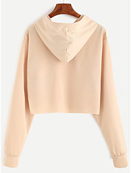2017 beige drawstring hooded Sweatshirts