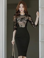 2017 new wear black lace Slim