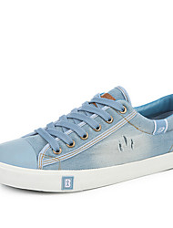 Men's Sneakers Spring Fall Light Soles Canvas Casual Dark Blue Light Blue