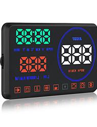 nuevo m9 coche 5.5 pulgadas multi-función HUD montada en el vehículo pantalla de visualización frontal OBD II sistema del coche exhibición
