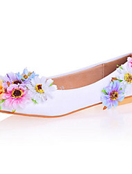 Women's Flats Spring Summer Fall Comfort Novelty Flower Girl Shoes Patent Leather Wedding Party & Evening Dress Flat Heel Stiletto Heel