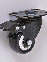 2 Inch Universal Wheel Wearable Casters Black Casters Office Chair Wheels Casters PU