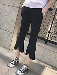 Новый корейский реальный выстрел правило брюки раздвоение личности микро спикер был тонкий свободные случайные брюки брюки женщины восьмой