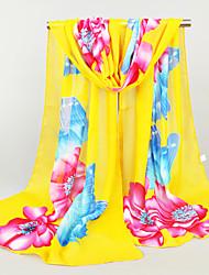 Women's Fashion Chiffon Cute Print Floral Spring Summer Scarfs 160*50CM