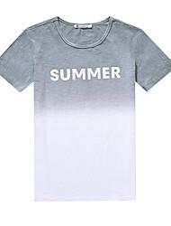 знак с короткими рукавами футболки прилива мужской летние небольшие свежие градиент корейских мужчин тонкий вокруг шеи футболку