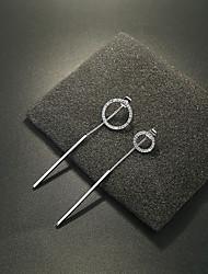 Drop Earrings Imitation Pearl AAA Cubic Zirconia Flower Style Pendant Hypoallergenic Multi-ways Wear Crystal Zircon Round Jewelry For