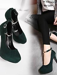 2016 inverno novo coreano feminino juventude matte camurça sapatos ol escritório 12 cm fino com saltos super-high