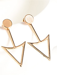 Non Stone Geometric Triangle Shape Dangle Earrings Jewelry Geometric Euramerican Fashion Personalized Daily Casual Alloy 1 pair