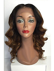 Unprocessed Gluesless 7A Brazilian Weave Virgin Human Hair Lace Wig T1B/30# Color Lace Front Wigs For Beautiful Woman
