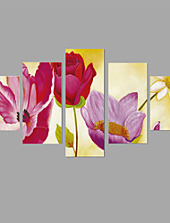 HD Print Flower Painting 5 Piece/set Wall Art 5pcs/set Home Decor (No Frame)