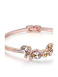 Mulheres Bracelete Jóias Amizade Moda Cristal Liga Forma Geométrica Dourado Roxo Claro Vermelho Azul Claro Jóias Para Festa Aniversário