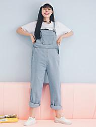 2017 nova versão coreana de macacões de denim casual solto harém calça as estudantes do sexo feminino de boa qualidade