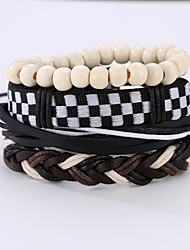 The New Vintage Cowhide Ancient Hand Woven Bracelet Cortical Layers Hand Rope Men's Bracelet Adjustable Size043