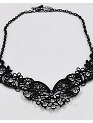 Women's Collar Necklace Imitation Diamond Chrome Vintage Black Jewelry For Gift Daily 1pc