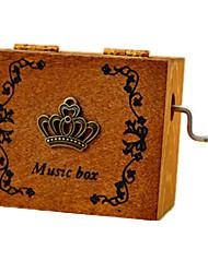 Caixa de música Quadrangular Madeira Criativo 5 a 7 Anos 8 a 13 Anos 14 Anos ou Mais