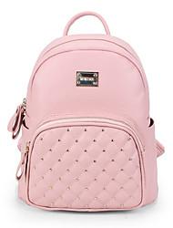 Causal shopping mulheres PU mini saco mochila com rebite (mais cores)