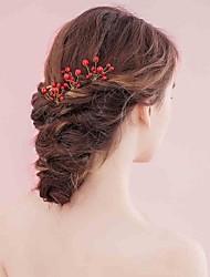 Liga Tecido Capacete-Casamento Ocasião Especial Casual Flores Acessórios para Cabelos Alfinete de Cabelo 3 Peças